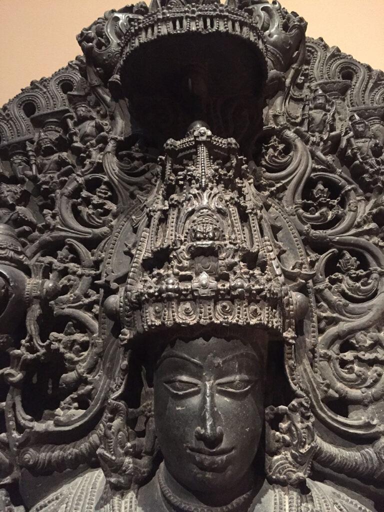 Dasoja of Balligrama (active early 12th century), Standing Vishnu as Keshava, South India (Karnataka, probably Belur), Hoysala period, first quarter of 12th century, Stone