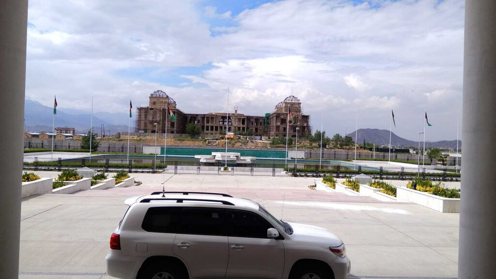 Darul Aman Palace from Afghan Parliament